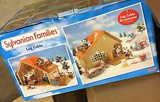 Sylvanian Families Log Cabin Holiday Hideaway Rare Toy New Damaged Box
