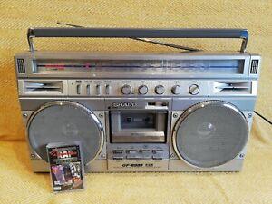 Sharp GF8989 radio cassette boombox ghetto blaster vintage and working