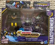 Transformers Cyberverse Sharkticons Attack Cybertronian Villains Figure set NEW