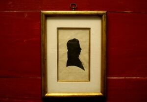 C 1825 Antique American Silhouette Honeywell Cut with her Mouth RARE Detailing