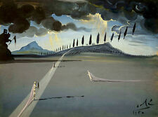 Salvador Dali landscape Reproduction of painting 8X12 canvas print art poster