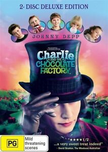 Charlie And The Chocolate Factory (DVD) 2005 Johnny Depp REMAKE - DELUXE EDITION