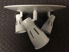 Modern Round White 3 Way Kitchen Ceiling Spotlight Adjustable GU10 No Lamp