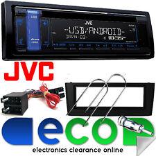 JVC mp3 CD RDS SINTONIZZATORE USB AUX IN AUTORADIO FIAT GRANDE PUNTO & Kit Fascia Nero