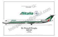 Mc Donnel Douglas MD-82 -Alitalia- Poster Profile
