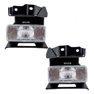 Pair Set Fog Lights Bumper Mounted Lens for Ford Explorer Mercury Mountaineer