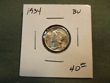 1934 BU silver Mercury dime, see our store for more coins