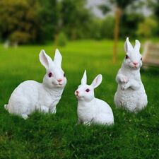 Outdoor Garden Decor Animal Statue For Home Lawn Yard Ornaments Rabbit Figurines