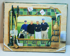 """NEW GOLF EASEL BACK FRAME, LEGENDS OF THE GAME, HOLDS 3 3/4"""" X 5 3/4"""" PIC"""
