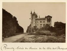 France, Biarritz, Entrée du chemin de la côte des Basques  Vintage albumen print