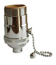 New listing Polished Nickel Pull Chain Uno Threaded Socket - Cast Brass