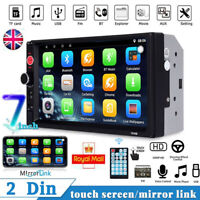 Bluetooth Car Stereo 7inch Radio MP5 Player 2 Double DIN Touch Screen FM USB AUX