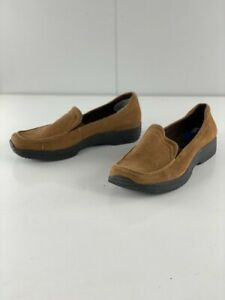 Keds Womens Brown Leather Suede Loafer Shoes Slip On Moc Toe Size 7.5 M