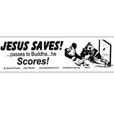 S078 - Jesus Saves! Large Bumper Sticker