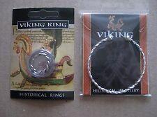 Viking Twisted Peltro Anello e Bracciale Placcato Argento