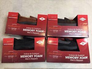 mens weatherproof vintage indoor outdoor memory foam slippers all sizes & styles