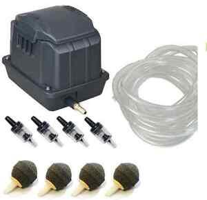 Garden Pond Koi Aquarium Tank Fish Air Pump 10 - 60L/min Boyu FREE Accessories