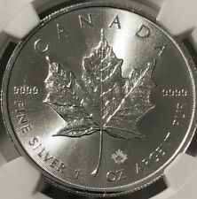 2018 Canada Silver Maple Leaf 1 oz $5 - NGC MS70 ⭐️Early Releases⭐️🇨🇦