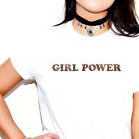 GIRL POWER PRINTED SLOGAN T-SHIRT TSHIRT TOP LEOPARD SPICE GIRLS WORLD TOUR 2019