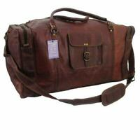 21 Inch Square Duffel Travel Gym Sports Overnight Weekend Leather Bag