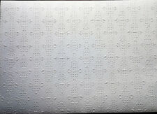 "Dollhouse Miniature Embossed Textured Ceiling Paper 1:12 Scale 17 ""x 12"""