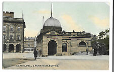 St Annes Well & Pump Room, Buxton PPC, Unposted, Animated Street Scene