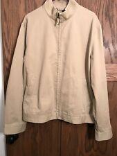 Men's J.Crew Khaki Zip-Up Jacket Tan Beige Size XL