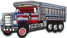 Dumptruck dumper tip truck tipper lorry retro applique iron-on patch new S-1352