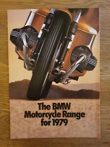 BMW - Motorcycle Range For 1979 - Sales Brochure - Very Good Condition