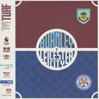 BURNLEY v LEICESTER CITY 19/20 Premier League Programme. Free UK Post