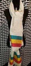 "Ethiopian cotton shawl...rasta colors .saba material  25.5""x78"""