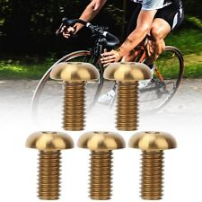 5Pcs Bike Disc Brake Rotor Bolts Bicycle Titanium Alloy Screws M5x10mm M5x12mm❤V