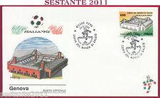 ITALIA FDC GENOVA STADIO LUIGI FERRARIS ITALIA '90 MONDIALI 1990 MILANO T168