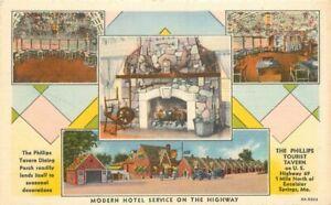 Excelsior Springs Missouri Phillips Tourists Tavern Teich linen Postcard 21-1786