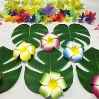 24PCS/set Tropical Hawaiian Green Leaves Luau Moana Party Table Decorations Bulk