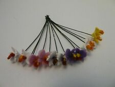 More details for dolls house indoor flowers miniature 1:12 scale 12 x orchids 4 different colours