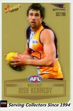 2012 SELECT AFL CHAMPIONS PEELED GOLD PARALLEL CARD GC196 JOSH KENNEDY-W.COAST