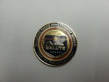 CHALLENGE COIN ANHEUSER BUSCH OPERATION SALUTE IRAQI FREEDOM SERIAL NUMBER 91081