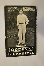 1901 -Vintage -Ogden's -Series F -TAB Cricket Card - J. Tunnicliffe - Yorkshire.