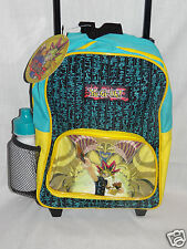 "NWT  YU GI OH SMALL ROLLING BACKPACK 9"" X 12""  WITH WATER BOTTLE YELLOW"