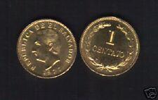 EL SALVADOR 1 CENTAVO KM135 1977 F.MORAZAN UNC LATINO CURRENCY MONEY COIN