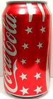 EMPTY UNOPEN 12oz 355ml Can Coke Coca-Cola Summer 2009 USA Stars and Stripes