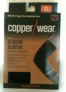NIB Copper / Wear Black sz XLarge XL Compression Elbow Sleeve Unisex
