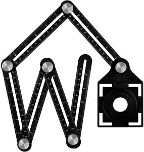Règle Mesure Multi-angle Trou Positionnement Pliante Alliage Aluminium Guide