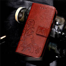Retro Flower Pattern Leather Wallet Stand Case Cover For Samsung Apple Series
