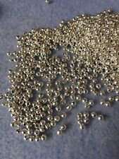 500 Argent lisses Acrylique Spacer Ball Beads 2 mm
