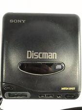 Vintage Sony Discman D-11 Portable CD Player Compact Disc Player Walkman Black