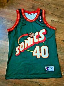 SONICS NBA BASKETBALL SHIRT SHAWN KEMP 40