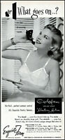 1952 Woman in bra on telephone Exquisite Form bras vintage photo print ad ads53