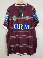 MANLY SEA EAGLES ISC Mens Size 4XL 2017 NRL Home Rugby League Jersey NEW